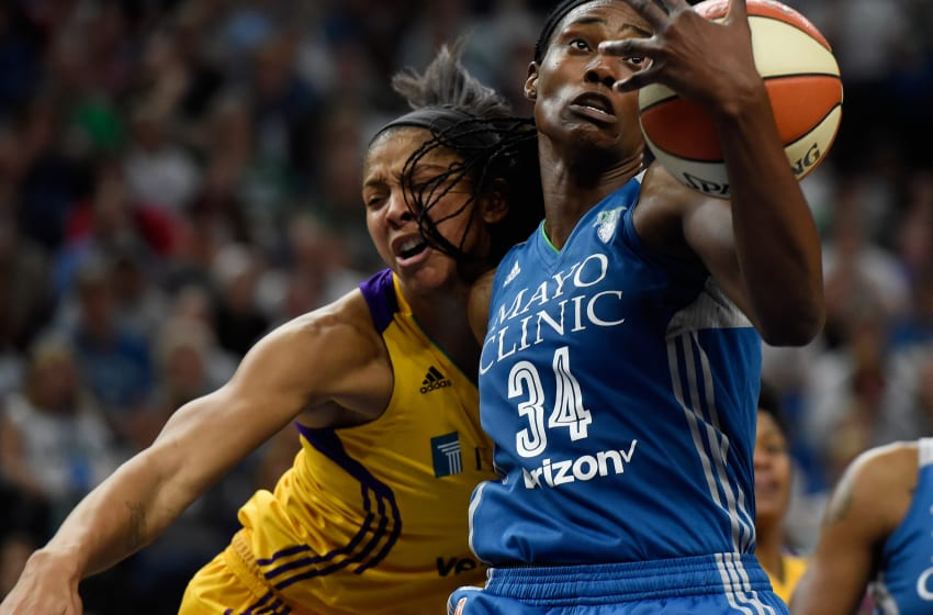 MINNEAPOLIS, MN - OCTOBER 11: Sylvia Fowles (Photo by Hannah Foslien/Getty Images)