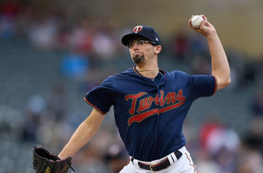 MINNEAPOLIS, MN - MAY 28: Devin Smeltzer #31 of the Minnesota Twins delivers his first pitch in his major league debut against the Milwaukee Brewers during the first inning of the interleague game on May 28, 2019 at Target Field in Minneapolis, Minnesota. a(Photo by Hannah Foslien/Getty Images)