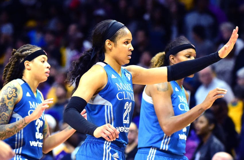 LOS ANGELES, CA - OCTOBER 16: Forward Maya Moore (Photo by Harry How/Getty Images)