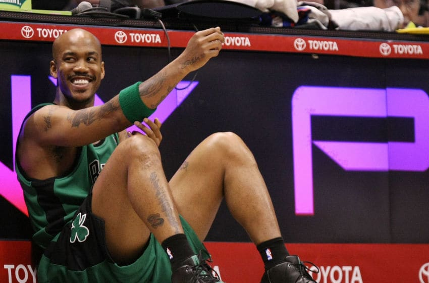EAST RUTHERFORD, NJ - MARCH 04: Stephon Marbury (Photo by Al Bello/Getty Images)
