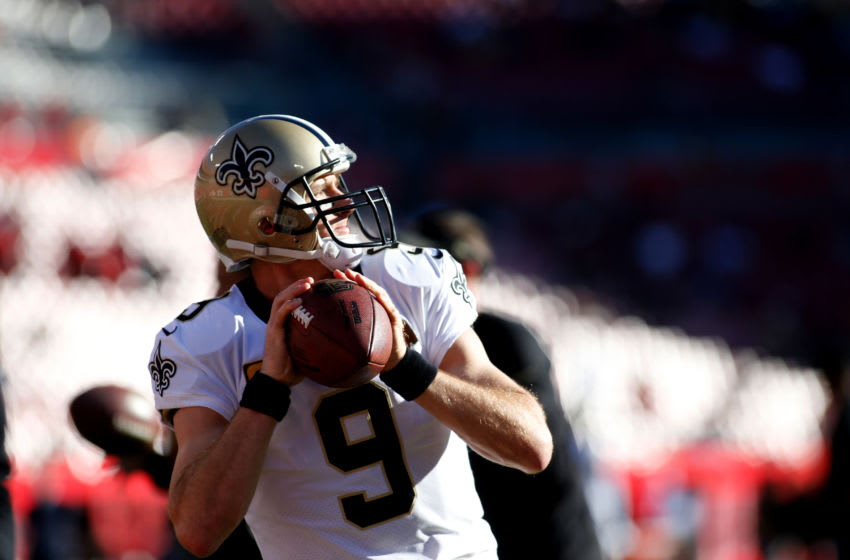TAMPA, FL - DECEMBER 31: Quarterback Drew Brees