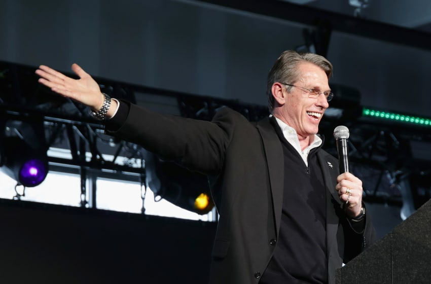 MINNEAPOLIS, MN - FEBRUARY 03: Rick Spielman speaks onstage duing Leigh Steinberg Super Bowl Party 2018 on February 3, 2018 in Minneapolis, Minnesota. (Photo by Cindy Ord/Getty Images for Leigh Steinberg )