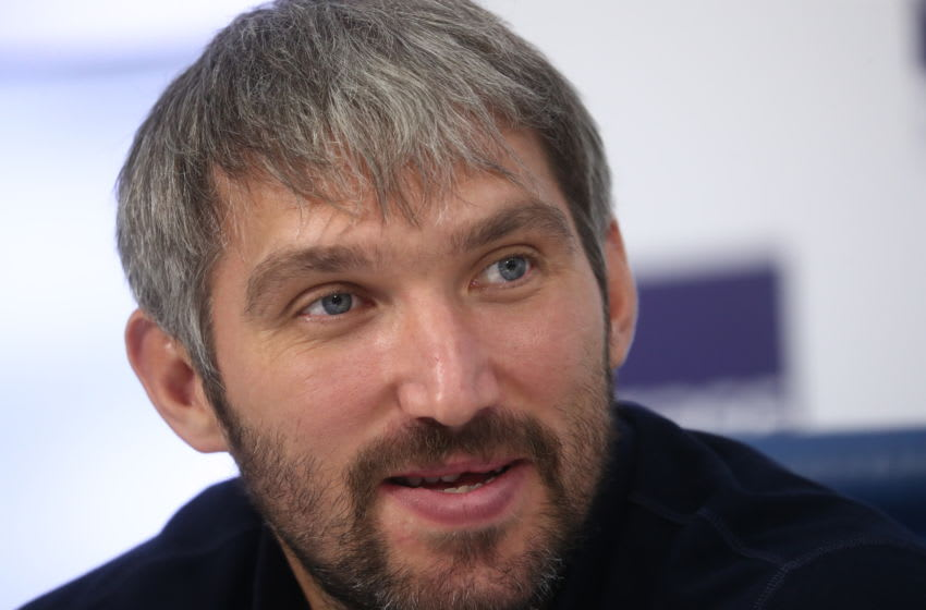 MOSCOW, RUSSIA - AUGUST 1, 2019: Russian ice hockey player Alexander Ovechkin during a press conference on the Alexander Ovechkin Cup All-Russian youth ice hockey tournament to be held in the Moscow Region on August 11-17. Stanislav Krasilnikov/TASS (Photo by Stanislav KrasilnikovTASS via Getty Images)