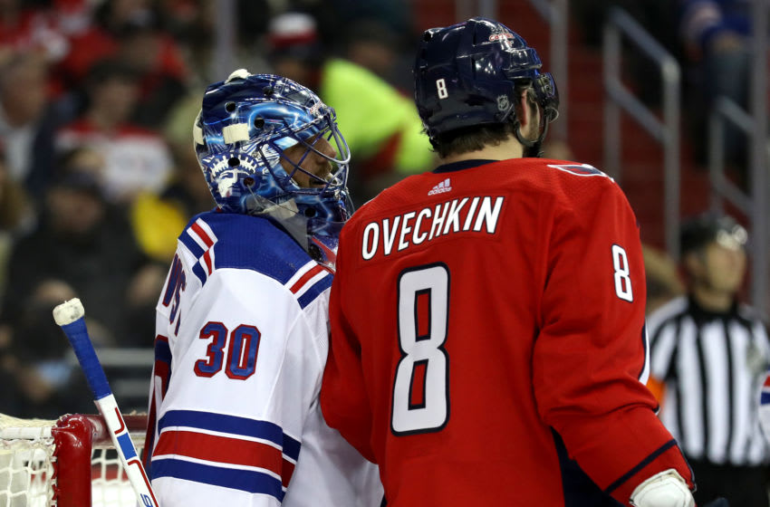 Henrik Lundqvist, Alex Ovechkin, Washington Capitals (Photo by Rob Carr/Getty Images)