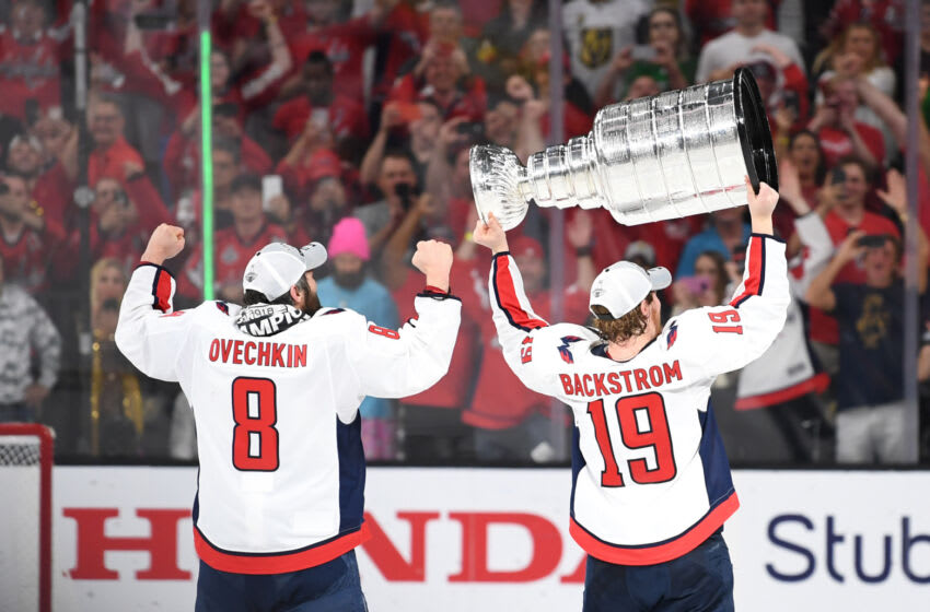 Nicklas Backstrom, Alex Ovechkin, Washington Capitals Mandatory Credit: Stephen R. Sylvanie-USA TODAY Sports