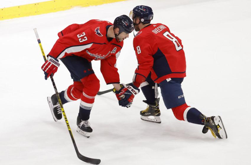 Alex Ovechkin, Zdeno Chara, Washington Capitals Mandatory Credit: Geoff Burke-USA TODAY Sports