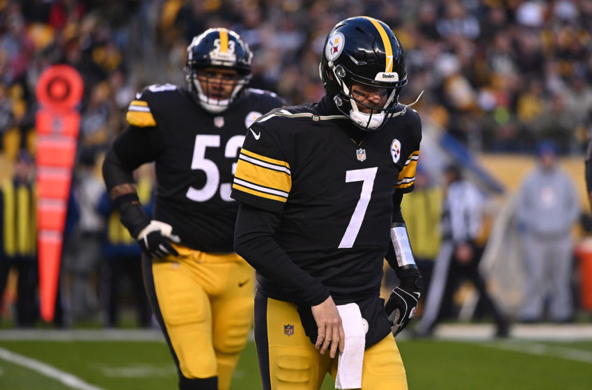 PITTSBURGH, PA - DECEMBER 30: Ben Roethlisberger #7 of the Pittsburgh Steelers comes off the field in the first quarter during the game against the Cincinnati Bengals at Heinz Field on December 30, 2018 in Pittsburgh, Pennsylvania. (Photo by Justin Berl/Getty Images)