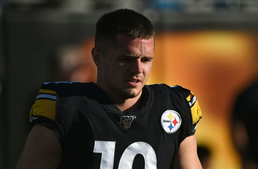 CHARLOTTE, NORTH CAROLINA - AUGUST 29: Ryan Switzer #10 of the Pittsburgh Steelers before their preseason game against the Carolina Panthers at Bank of America Stadium on August 29, 2019 in Charlotte, North Carolina. (Photo by Grant Halverson/Getty Images)