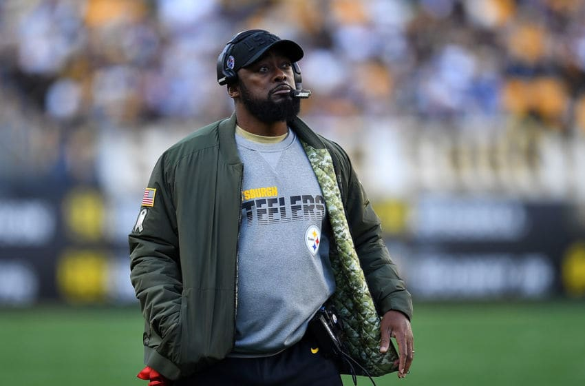 PITTSBURGH, PA - NOVEMBER 03: Head coach Mike Tomlin of the Pittsburgh Steelers looks on during the fourth quarter against the Indianapolis Colts at Heinz Field on November 3, 2019 in Pittsburgh, Pennsylvania. (Photo by Joe Sargent/Getty Images)