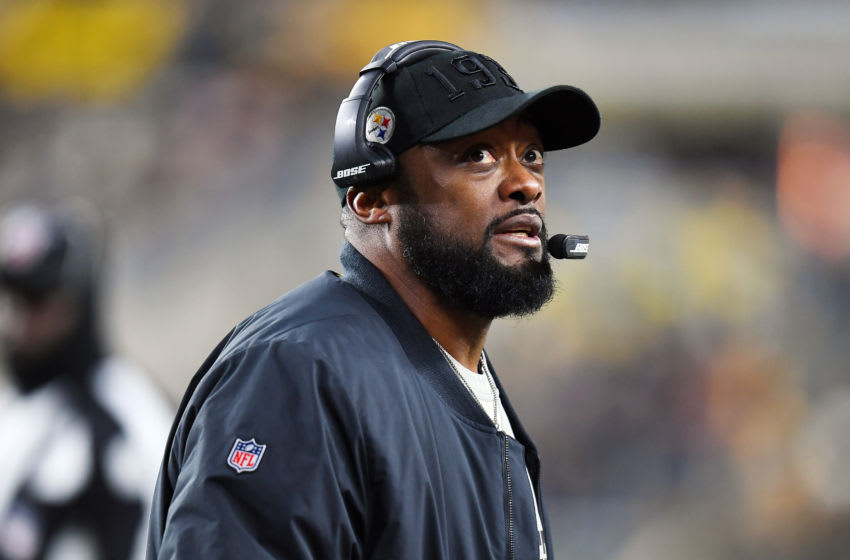 PITTSBURGH, PENNSYLVANIA - DECEMBER 15: Head coach Mike Tomlin of the Pittsburgh Steelers looks on in the game against the Buffalo Bills at Heinz Field on December 15, 2019 in Pittsburgh, Pennsylvania. (Photo by Joe Sargent/Getty Images)