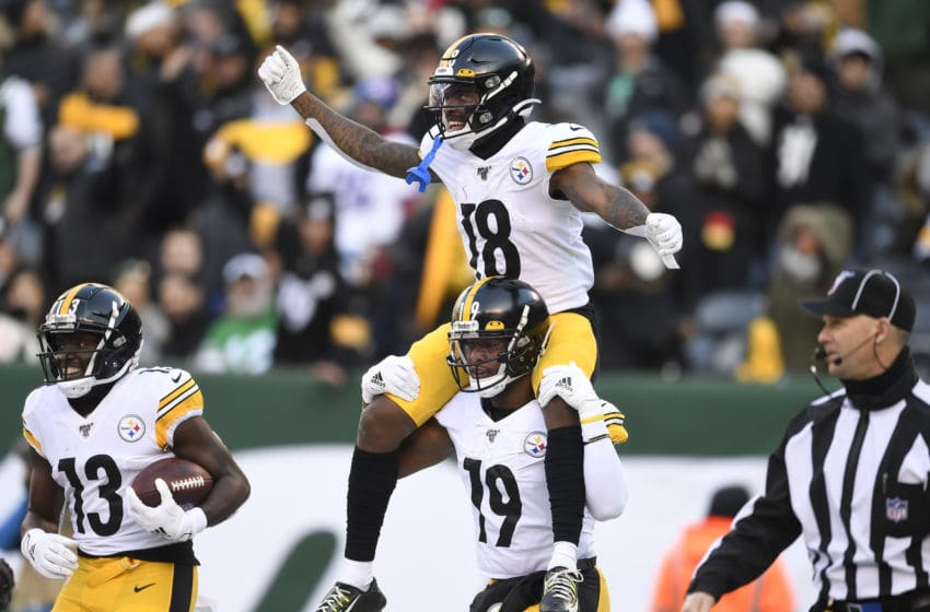 JuJu Smith-Schuster Diontae Johnson James Washington Pittsburgh Steelers (Photo by Sarah Stier/Getty Images)