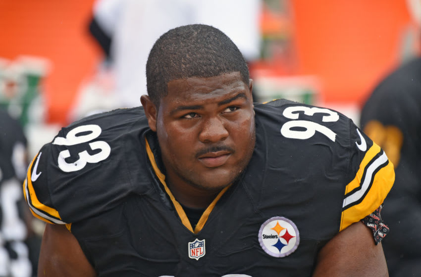 PITTSBURGH, PA - SEPTEMBER 18: Defensive lineman Daniel McCullers #93 of the Pittsburgh Steelers looks on from the sideline during a game against the Cincinnati Bengals at Heinz Field on September 18, 2016 in Pittsburgh, Pennsylvania. The Steelers defeated the Bengals 24-16. (Photo by George Gojkovich/Getty Images)