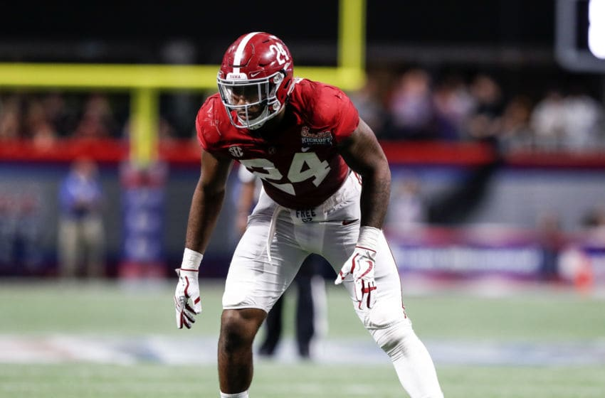 ATLANTA, GA - SEPTEMBER 02: Linebacker Terrell Lewis #24 of the #1 ranked Alabama Crimson Tide playing against the #3 ranked Florida State Seminoles during the Chick-fil-A Kickoff Game at Mercedes-Benz Stadium on September 2, 2017 in Atlanta, Georgia. Alabama defeated Florida State 24 to 7. (Photo by Don Juan Moore/Getty Images)