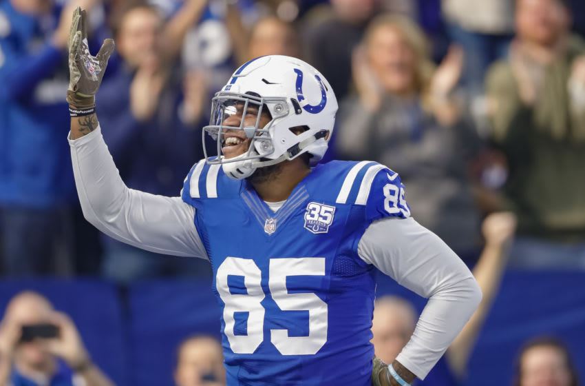 Eric Ebron #85 of the Indianapolis Colts (Photo by Michael Hickey/Getty Images)