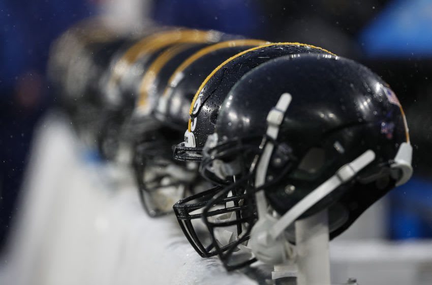 Pittsburgh Steelers helmets (Photo by Scott Taetsch/Getty Images)
