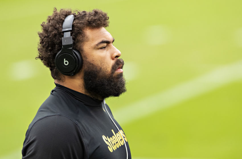 Cameron Heyward #97 of the Pittsburgh Steelers. (Photo by Wesley Hitt/Getty Images)