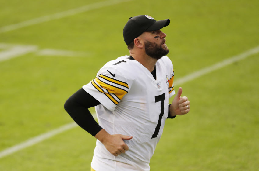 Ben Roethlisberger #7 of the Pittsburgh Steelers. (Photo by Michael Reaves/Getty Images)