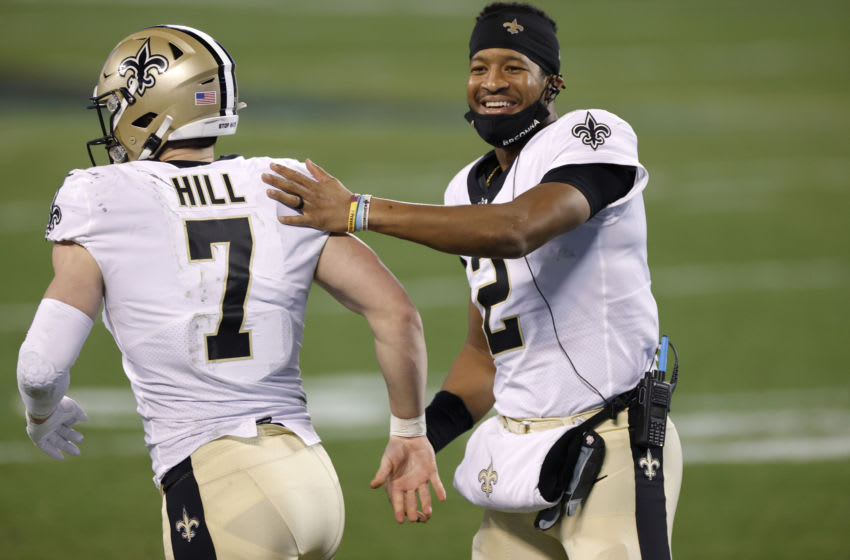 Quarterback Jameis Winston #2 of the New Orleans Saints. (Photo by Jared C. Tilton/Getty Images)