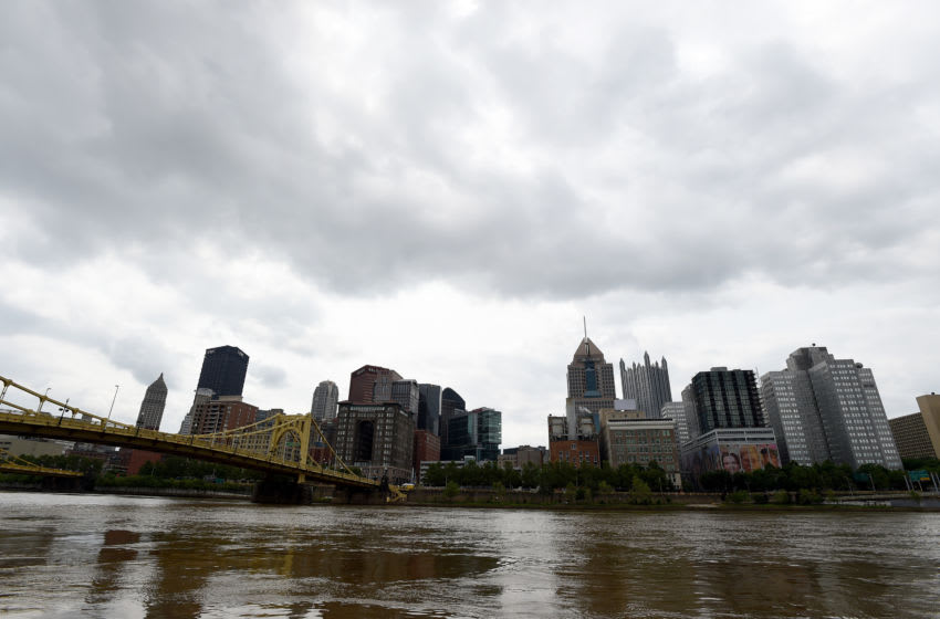 PITTSBURGH, PA - JUNE 02: A view of the Pittsburgh skyline before the game between the Pittsburgh Pirates and the Milwaukee Brewers at PNC Park on June 2, 2019 in Pittsburgh, Pennsylvania. (Photo by G Fiume/Getty Images)