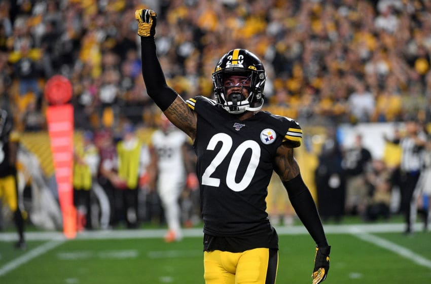 PITTSBURGH, PA - SEPTEMBER 30: Cameron Sutton #20 of the Pittsburgh Steelers reacts after a defensive stop in the first half during the game against the Cincinnati Bengals at Heinz Field on September 30, 2019 in Pittsburgh, Pennsylvania. (Photo by Justin Berl/Getty Images)
