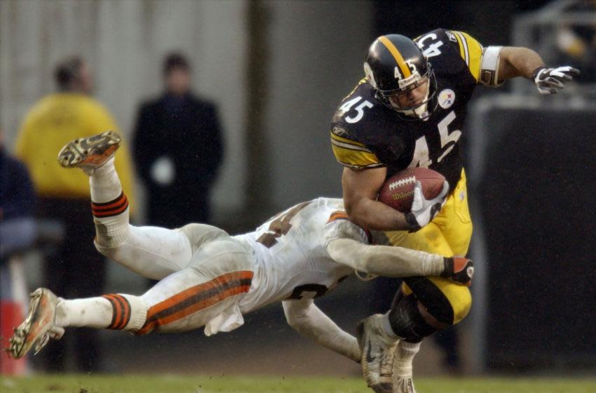Pittsburgh Steelers'running back Chris Fuamaatu-Ma'afala (45). Mandatory Credit: David Maxwell-Getty Images