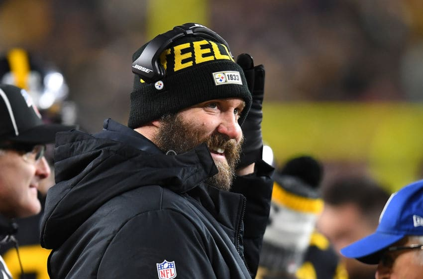 PITTSBURGH, PA - DECEMBER 15: Ben Roethlisberger #7 of the Pittsburgh Steelers looks on during the game against the Buffalo Bills at Heinz Field on December 15, 2019 in Pittsburgh, Pennsylvania. (Photo by Joe Sargent/Getty Images)