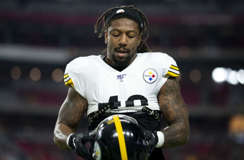Bud Dupree #48 of the Pittsburgh Steelers (Photo by Jennifer Stewart/Getty Images)