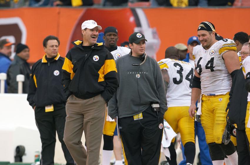 Former Pittsburgh Steelers Head Coach, Bill Cowher (left). Mandatory Credit: Jamie Mullen-NFLPhotoLibrary