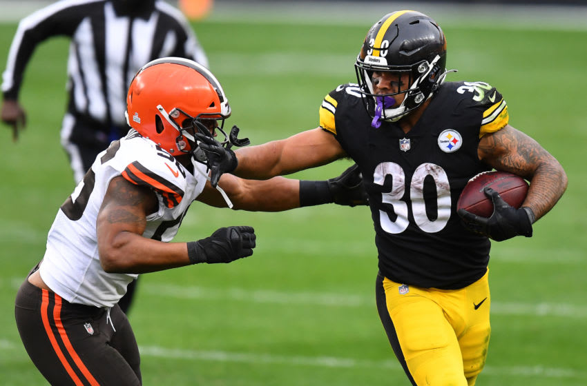 James Conner #30 of the Pittsburgh Steelers. (Photo by Joe Sargent/Getty Images)