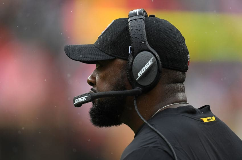 CLEVELAND, OH - SEPTEMBER 09: Head coach Mike Tomlin of the Pittsburgh Steelers looks on during the third quarter against the Cleveland Browns at FirstEnergy Stadium on September 9, 2018 in Cleveland, Ohio. (Photo by Jason Miller/Getty Images)