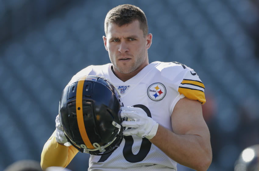 T.J. Watt #90 of the Pittsburgh Steelers (Photo by Michael Hickey/Getty Images)