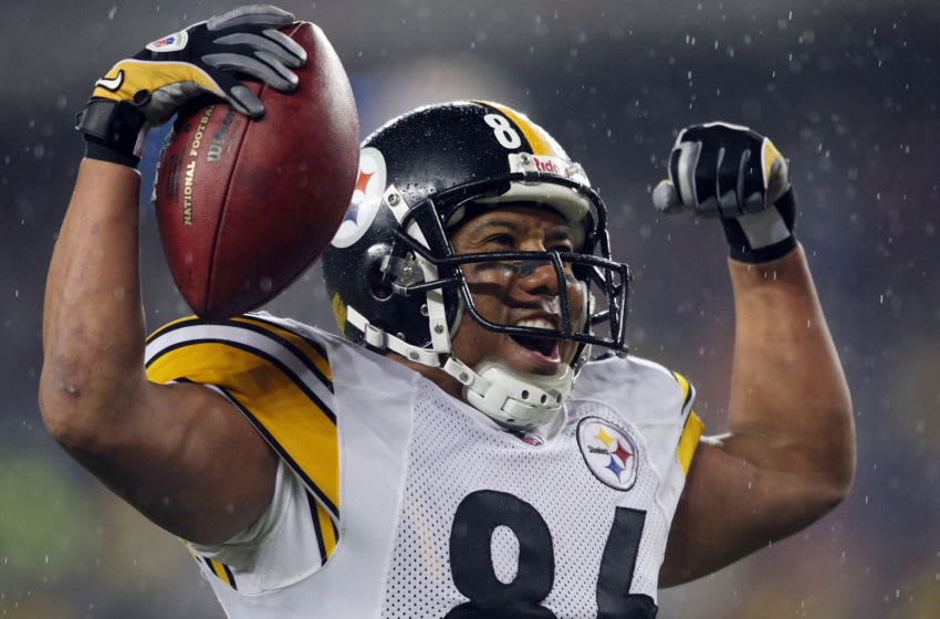 Hines Ward #86 of the Pittsburgh Steelers (Photo by Elsa/Getty Images)