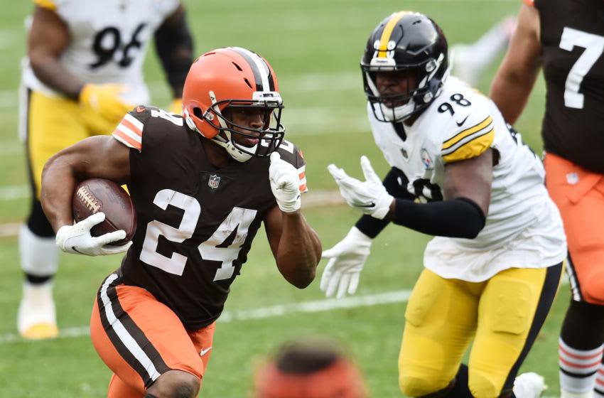 Cleveland Browns running back Nick Chubb (24). Mandatory Credit: Ken Blaze-USA TODAY Sports
