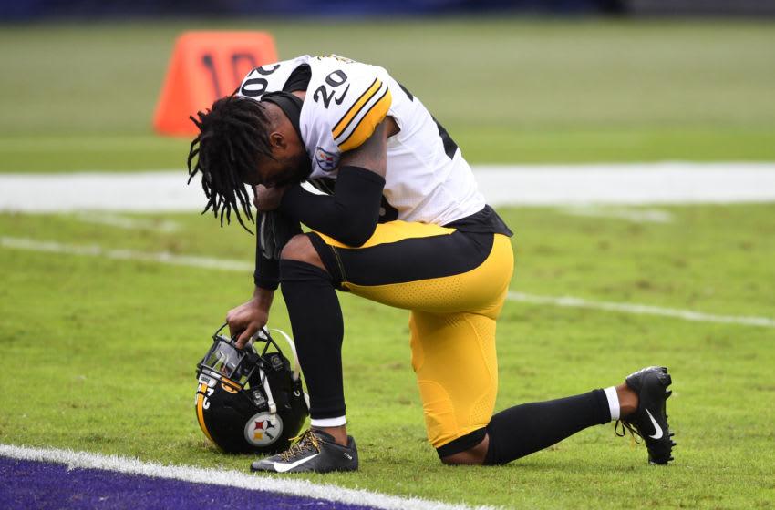 Pittsburgh Steelers cornerback Cameron Sutton (20) Mandatory Credit: Mitchell Layton-USA TODAY Sports