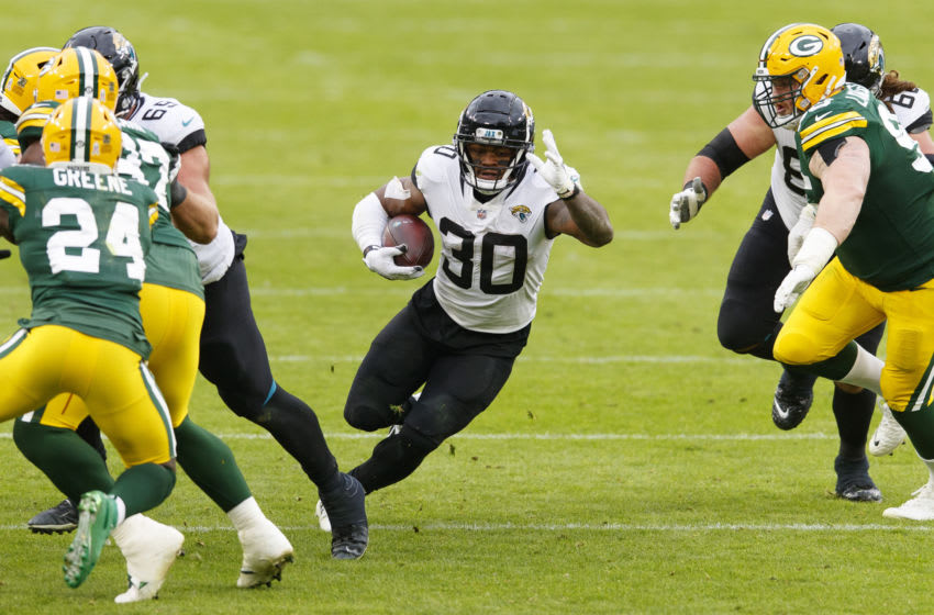 Jacksonville Jaguars running back James Robinson (30) Mandatory Credit: Jeff Hanisch-USA TODAY Sports
