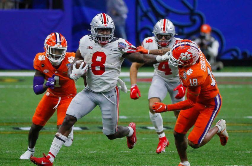 Ohio State Buckeyes running back Trey Sermon (8) College Football Playoff Ohio State Faces Clemson In Sugar Bowl