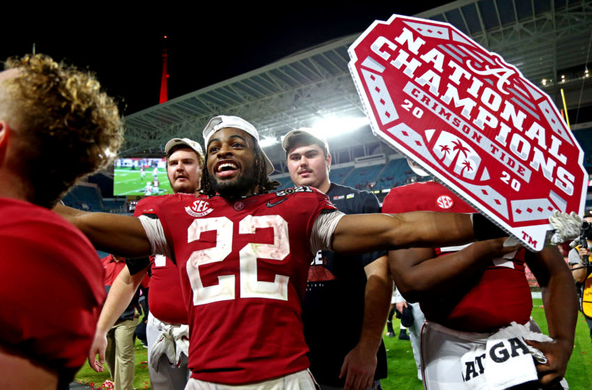 Alabama Crimson Tide running back Najee Harris (22) (Photo Credit: Kim Klement-USA TODAY Sports)