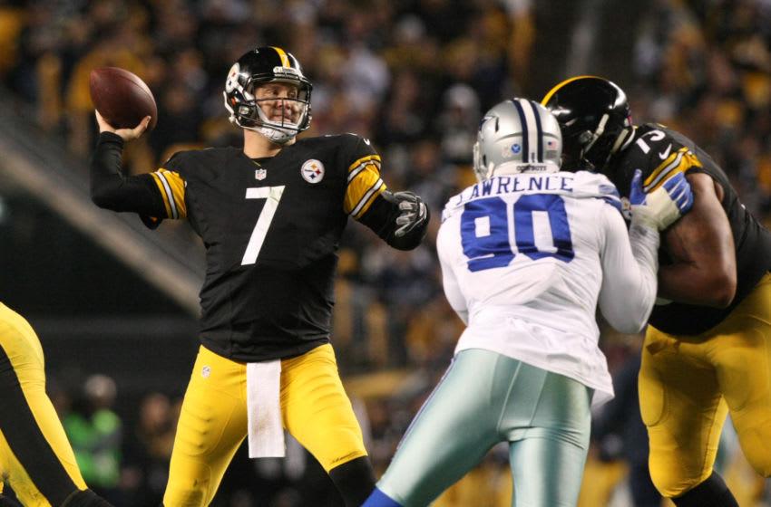 Nov 13, 2016; Pittsburgh, PA, USA; Pittsburgh Steelers quarterback Ben Roethlisberger (7) (Photo Credit: Jason Bridge-USA TODAY Sports)
