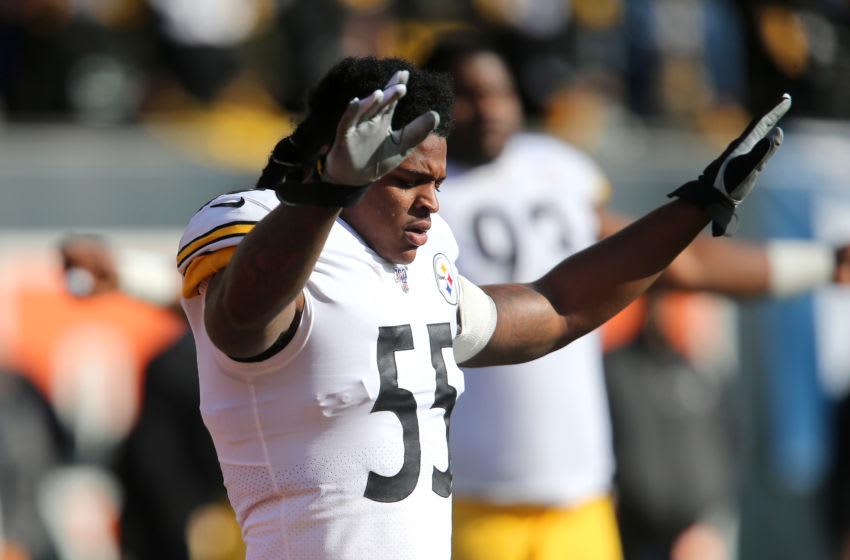 Pittsburgh Steelers linebacker Devin Bush (55). Mandatory Credit: Joe Maiorana-USA TODAY Sports