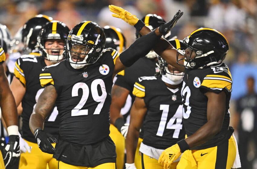 Pittsburgh Steelers running back Kalen Ballage (29). Mandatory Credit: Ken Blaze-USA TODAY Sports