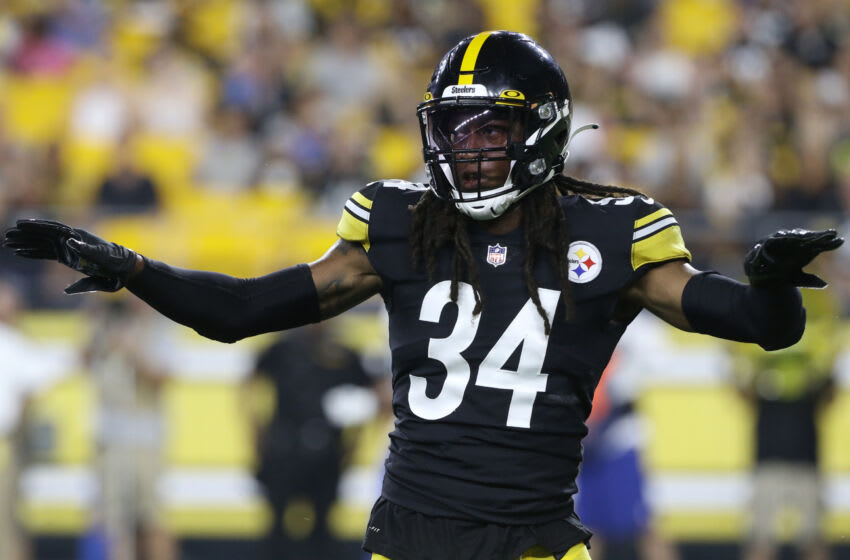 Pittsburgh Steelers strong safety Terrell Edmunds (34). Mandatory Credit: Charles LeClaire-USA TODAY Sports