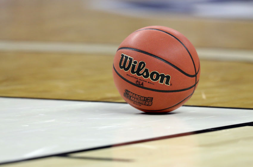 COLUMBIA, SOUTH CAROLINA - MARCH 22: A game ball sits on the court in the first half between the Mississippi Rebels and the Oklahoma Sooners during the first round of the 2019 NCAA Men's Basketball Tournament at Colonial Life Arena on March 22, 2019 in Columbia, South Carolina. (Photo by Streeter Lecka/Getty Images)
