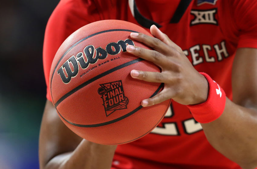 MINNEAPOLIS, MINNESOTA - APRIL 08: Jarrett Culver #23 of the Texas Tech Red Raiders holds the official game ball in the first half against the Virginia Cavaliers during the 2019 NCAA men's Final Four National Championship game at U.S. Bank Stadium on April 08, 2019 in Minneapolis, Minnesota. (Photo by Streeter Lecka/Getty Images)