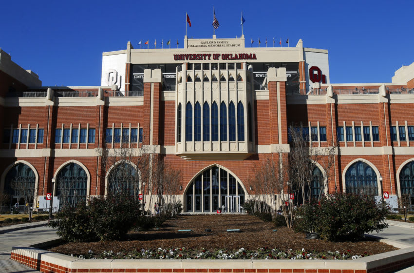 NORMAN, OK - NOVEMBER 9: The Gaylord Family Oklahoma Memorial Stadium, home of the Oklahoma Sooners, is ready for a game against the Iowa State Cyclones on November 9, 2019 at in Norman, Oklahoma. OU held on to win 42-41. (Photo by Brian Bahr/Getty Images)