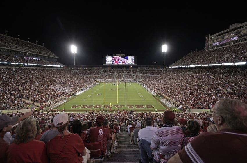 NORMAN, OK - SEPTEMBER 10 : A general view of the stadium during the game against the Louisiana Monroe Warhawks September 10, 2016 at Gaylord Family Memorial Stadium in Norman, Oklahoma. The Sooners defeated the Warhawks 59-17. (Photo by Brett Deering/Getty Images)