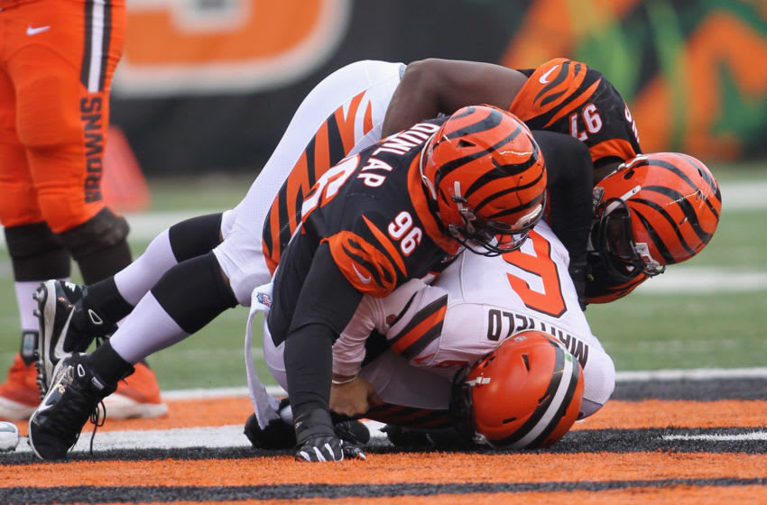 Cincinnati Bengals, Carlos Dunlap, Geno Atkins (Photo by John Grieshop/Getty Images)
