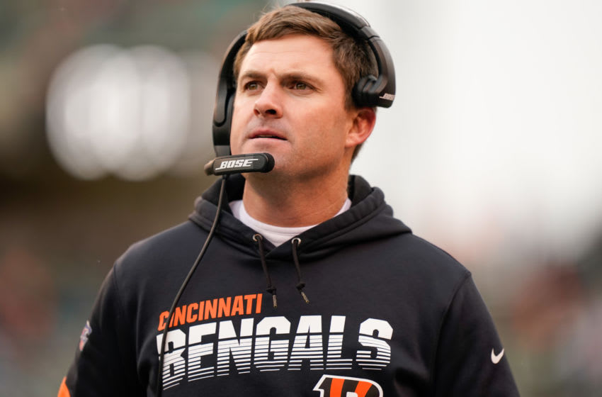 CINCINNATI, OH - DECEMBER 01: Head coach Zac Taylor of the Cincinnati Bengals stands of the field during the second half of NFL football game against the New York Jets at Paul Brown Stadium on December 1, 2019 in Cincinnati, Ohio. (Photo by Bryan Woolston/Getty Images)