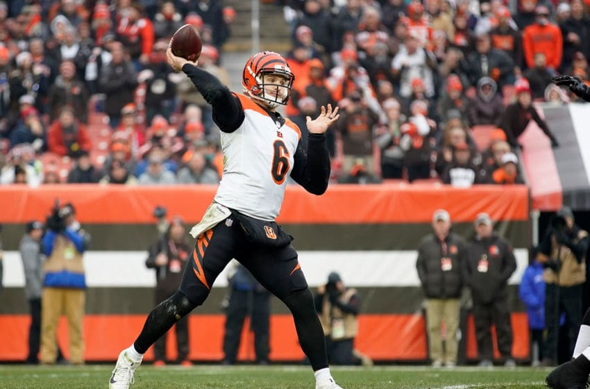 CLEVELAND, OH - DECEMBER 23: Jeff Driskel #6 of the Cincinnati Bengals throws a pass during the third quarter agains the Cleveland Browns at FirstEnergy Stadium on December 23, 2018 in Cleveland, Ohio. (Photo by Kirk Irwin/Getty Images)