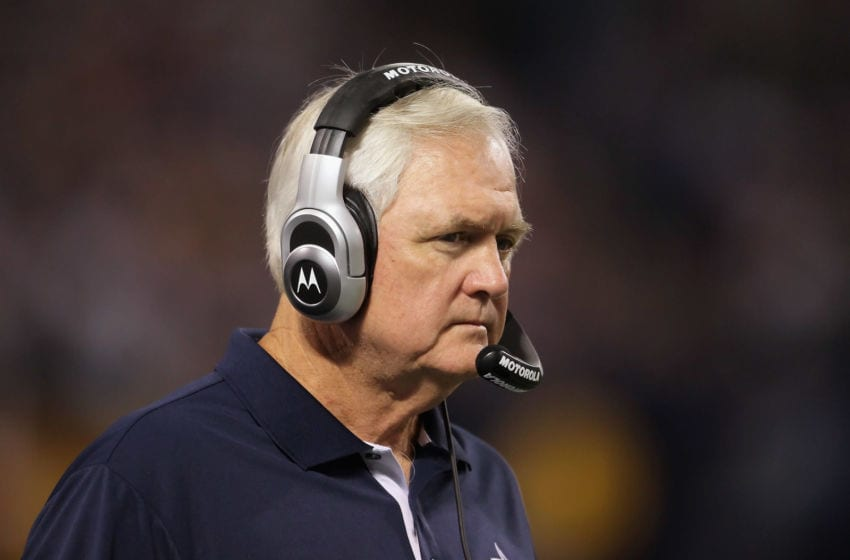 MINNEAPOLIS - OCTOBER 17: Dallas Cowboys head coach Wade Phillips looks on during the game against the Minnesota Vikings at Mall of America Field on October 17, 2010 in Minneapolis, Minnesota. The Vikings defeated the Cowboys 24-21. (Photo by Jeff Gross/Getty Images)