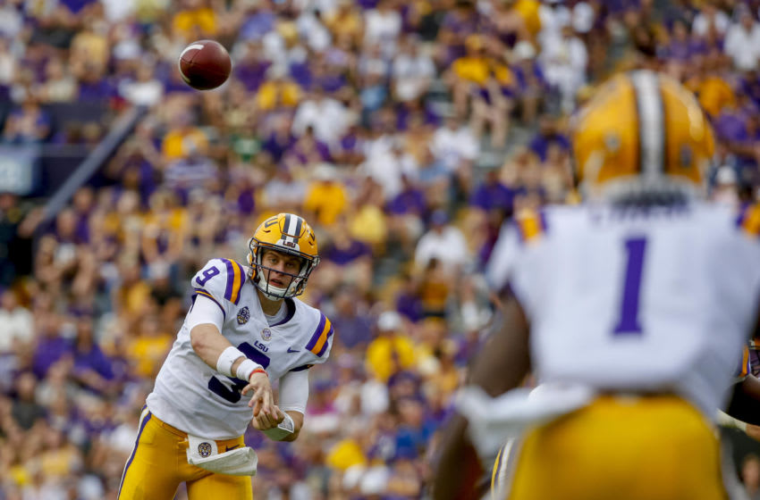 Sep 8, 2018; Baton Rouge, LA, USA; LSU Tigers quarterback. Mandatory Credit: Derick E. Hingle-USA TODAY Sports